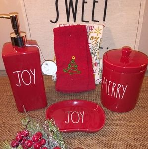 Rae Dunn Christmas bathroom bundle